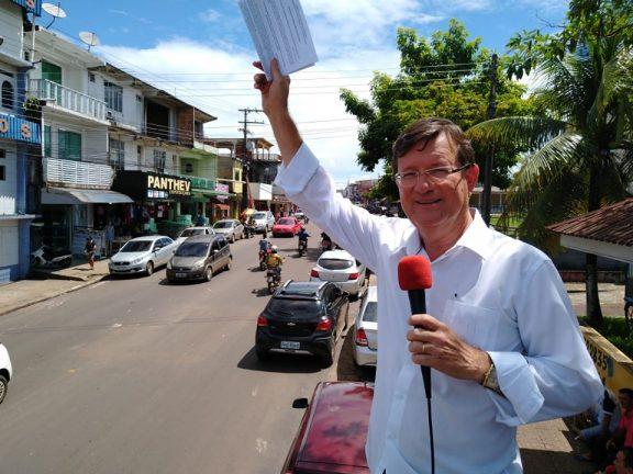 José Ricardo nas ruas. Foto: Divulgação José Ricardo