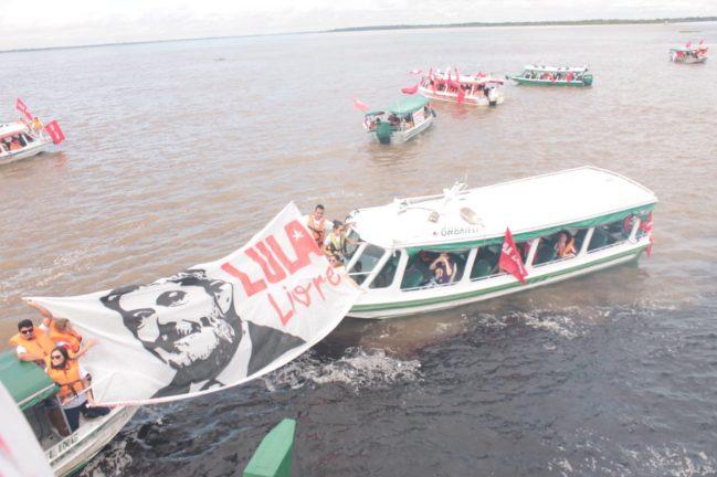 Caravana Lula Livre no Encontro das Águas. Foto: Assessoria de comunicação José Ricardo