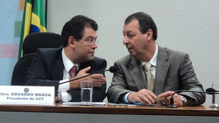 Eduardo Braga e Omar Aziz. Foto: Senado/Divulgação via site Amazonas Atual