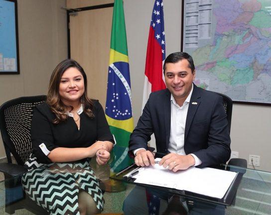 Deputada Joana Darc e governador Wilson Lima. Foto: Divulgação