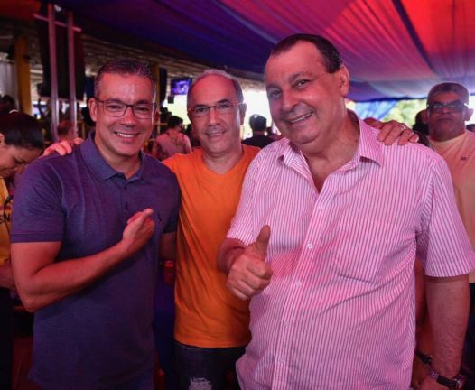 Josué Neto, Paulo Radin e Omar Aziz. Foto: Josué Neto/Divulgação