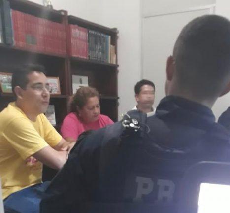 Foto: Divulgação Frente Brasil Popular.  Reunião de movimento contra Bolsonaro é acompanhado por Po9liciais Rodoviários Federais armados.