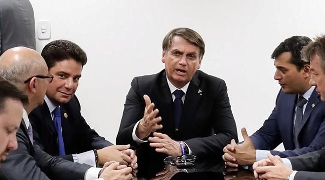 Governador do Acre, Gladson Cameli, governador do Amazonas, Wilson Lima, e presidente da República Jair Bolsonaro. Foto: Wilson Lima - Divulgação Facebook