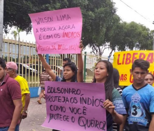 Foto: 4ª Marcha de Indígenas do Amazonas. Divulgação - Foreeia