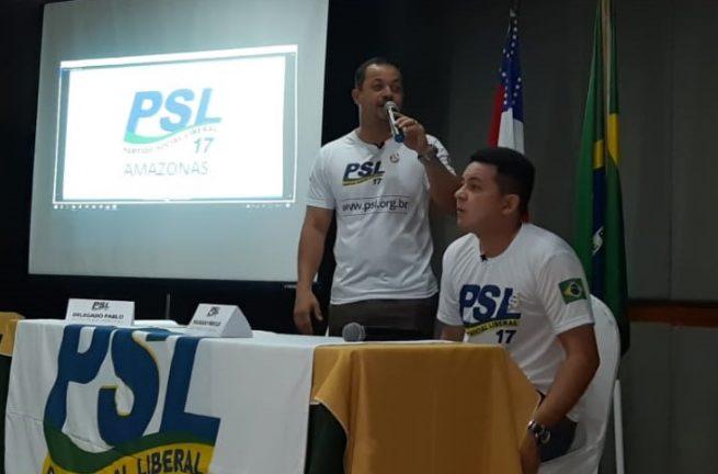 Foto: Rosiene Carvalho. Deputado Federal Delegado Pablo e Deputado estadual Delegado Péricles