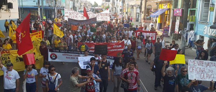 Foto: Rosiene Carvalho. Protesto de 13 de agosto no Centro de Manaus.