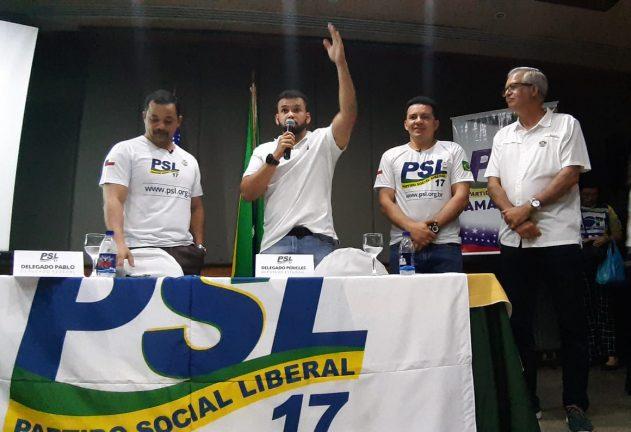 Foto: Rosiene Carvalho. Delegado Pablo, Ubirajara Rosses, Delegado Péricles, Empresário Romero Reis