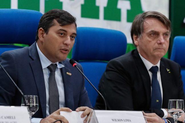 Foto: Governador do Amazonas, Wilson Lima, e presidente da República, Jair Bolsonaro. Divulgação
