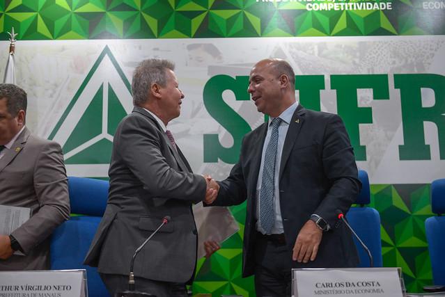 Arthur Neto e Carlos Costa. Foto: Divulgação Secom
