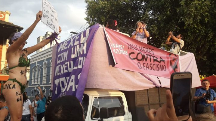 Foto: Rosiene Carvalho. Movimento #Elenão. Largo São Sebastião 28/09/2018