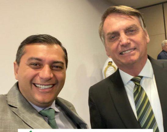 Foto: Wilson Lima e Jair Bolsonaro. Divulgação