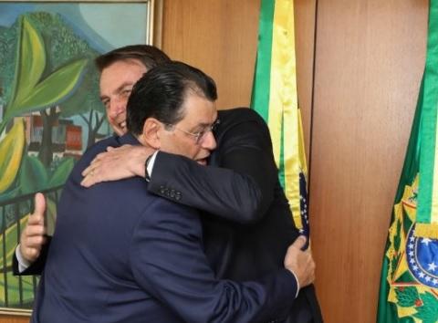 Eduardo Braga e Bolsonaro. Foto: Divulgação/Eduardo Braga