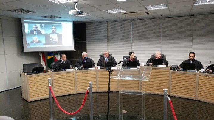 Foto: Membros do TRE-AM, incluindo Marco Antônio Pinto, participaram de forma virtual da sessão desta quinta-feira, dia 19.