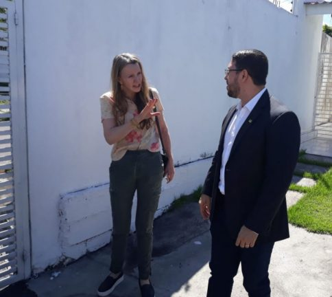 Foto: Vanessa Grazziotin (PCdoB) e Carlos Almeida Filho (Rosiene Carvalho)
