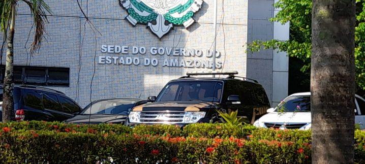 Foto: Sede do governo non dia da segunda fase da Operação Sangria 2 Edmar Barros
